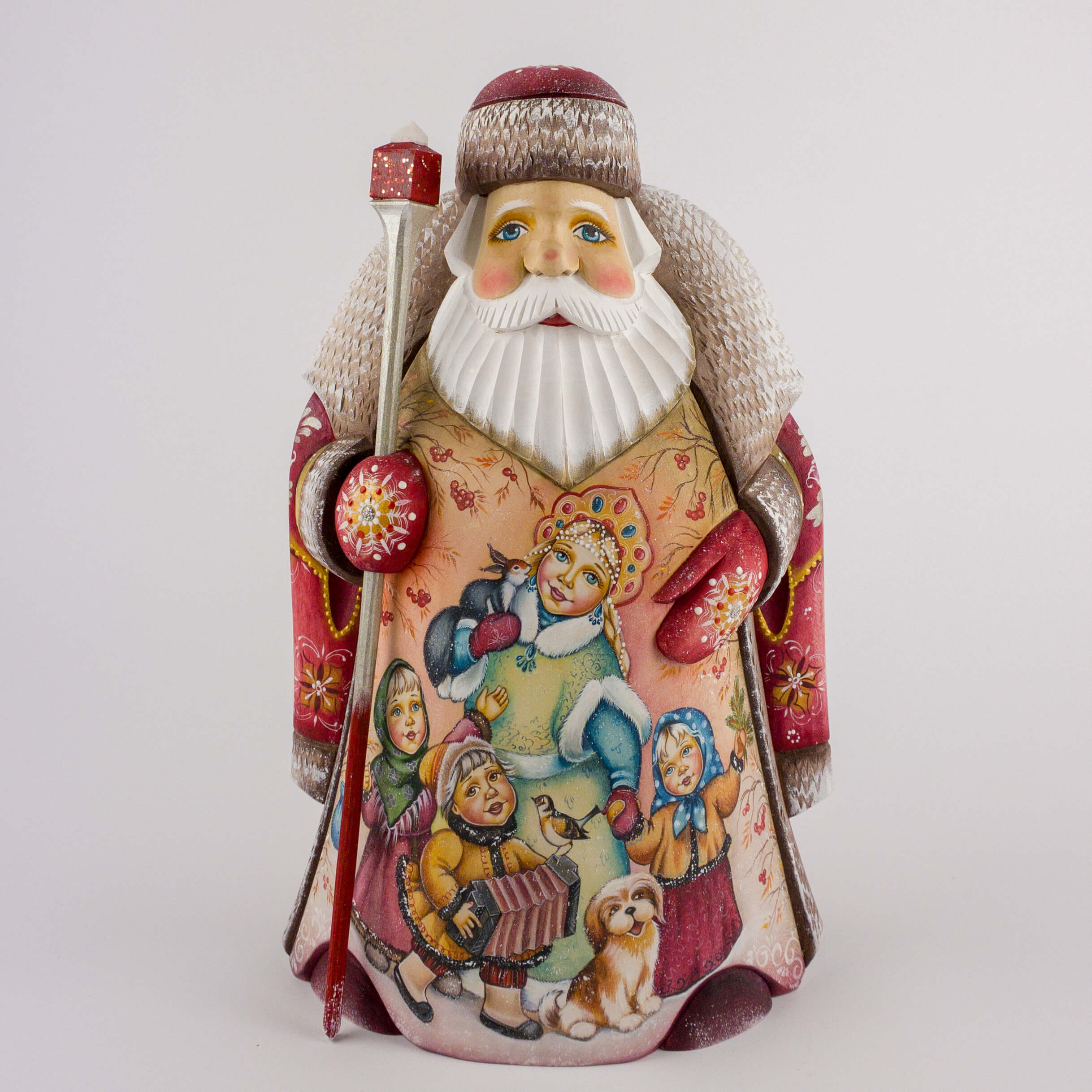#LR0006 - Large wooden Santa figure
