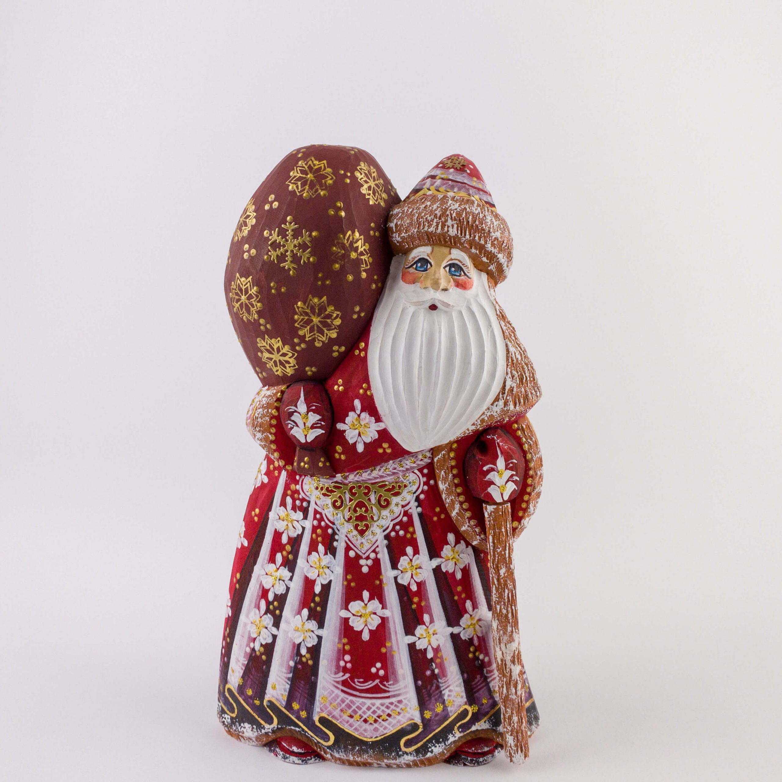 #MD0011 - Medium wooden Santa figure