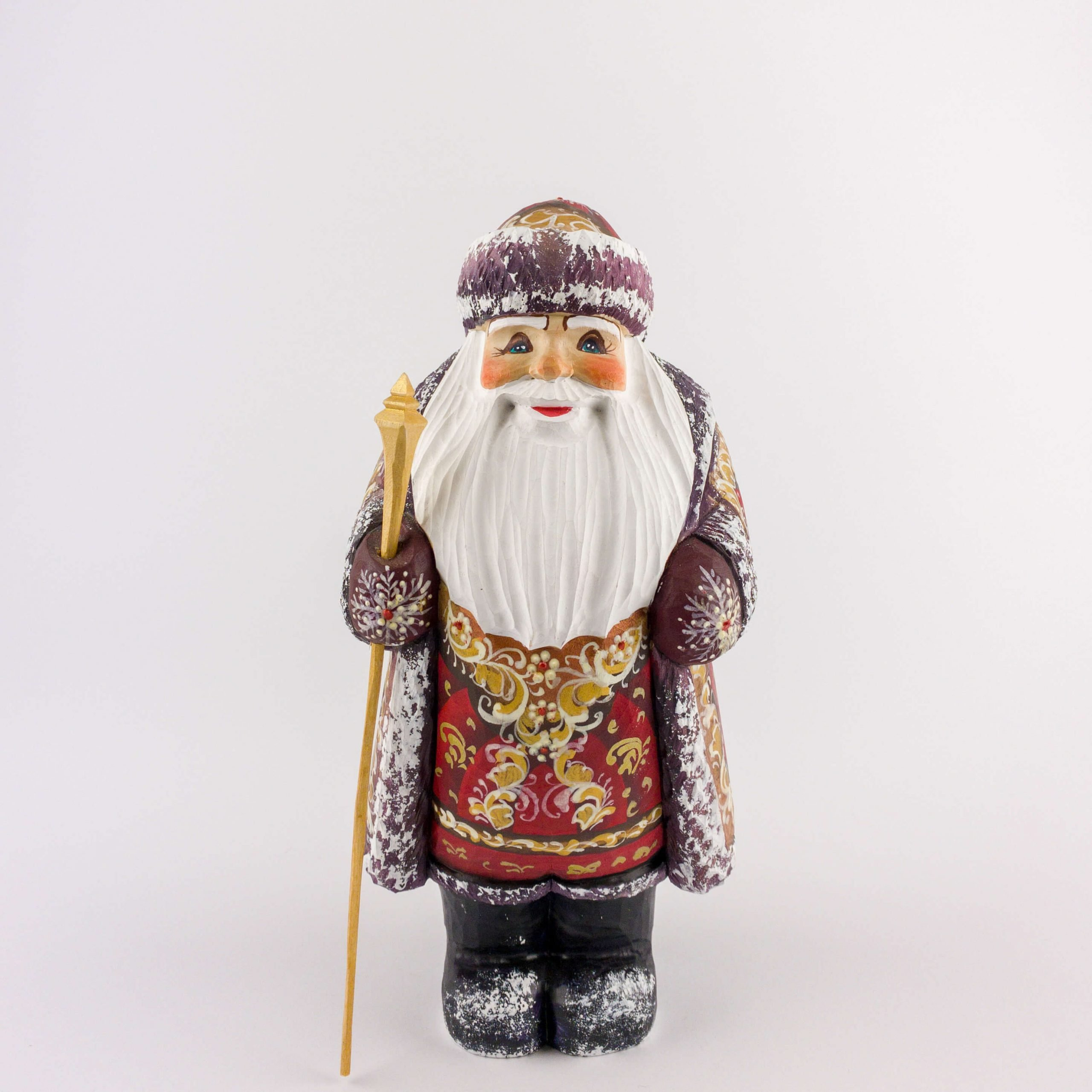 #MD0013 - Medium wooden Santa figure