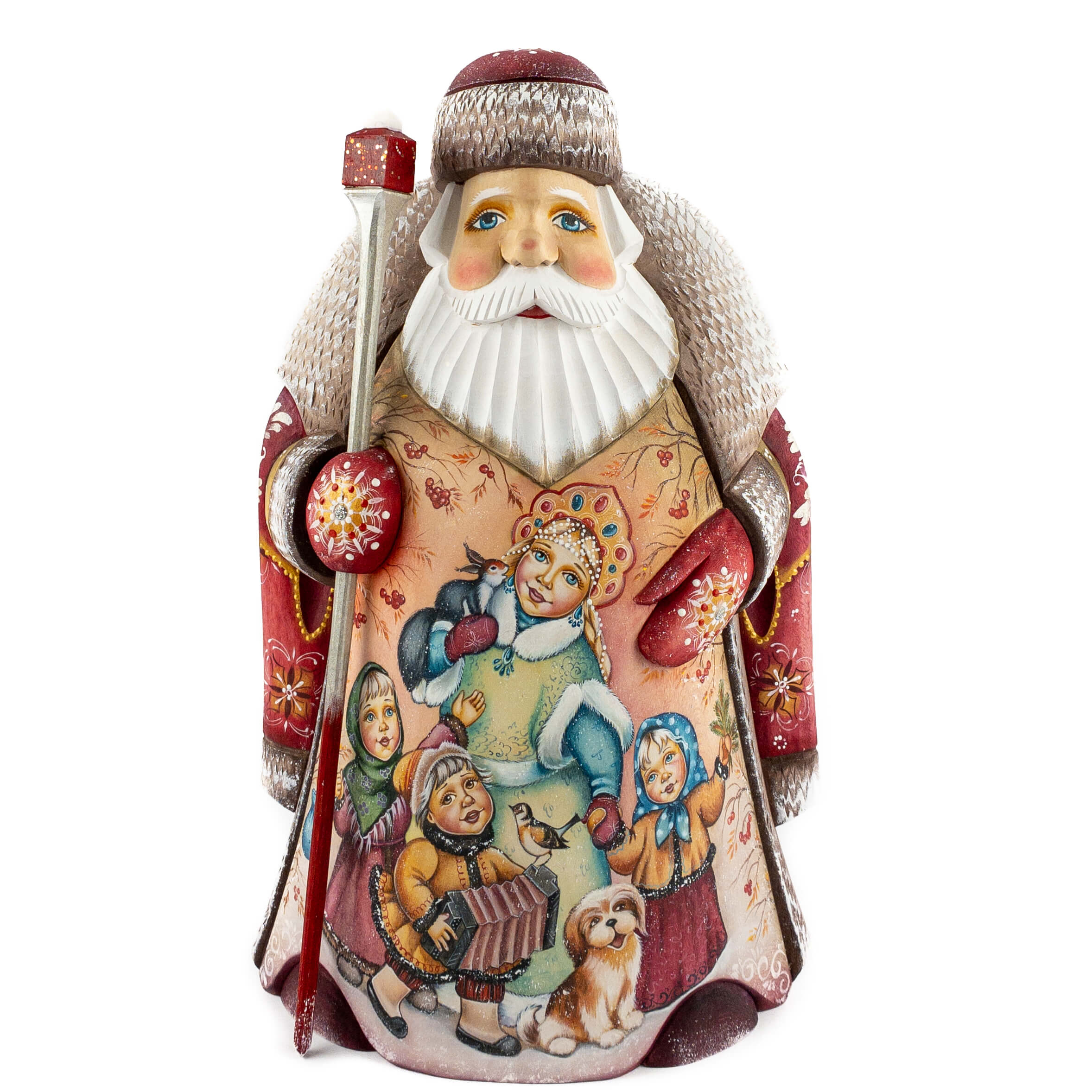 Large category wooden Santa figure